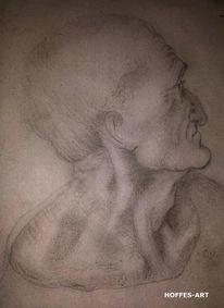 Leonardo da vinci, Bleistiftzeichnung, Portrait, Skizze
