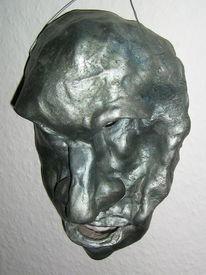 Gesicht, Ton, Relief, Figural
