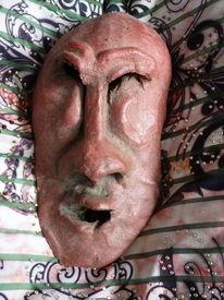 Gesicht, Ton, Relief, Plastik