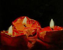 Advent, Wachs, Kerzen, Stern