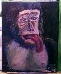 Affe, Erheitern, Acrylmalerei, Gebrauchskunst