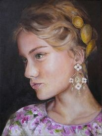 Ölmalerei, Frau, Portrait, Malerei
