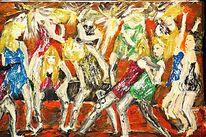 Tanz, Party, Menschen, Malerei