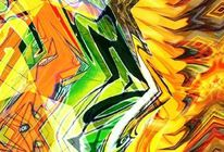 Bunt, Abstrakt, Bschoeni, Graffiti