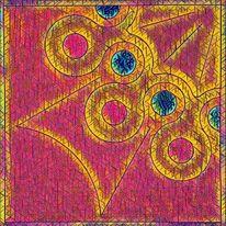 Blau, Abstrakt, Kreis, Krone