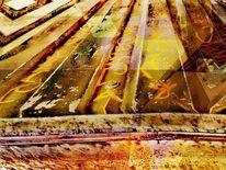 Graffiti, Wandmalerei, Abstrakt, Maserung