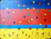 Luft allon, Malerei, Bschoeni, Kinder