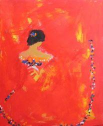 Gelb, Flamenco, Frau, Tanz