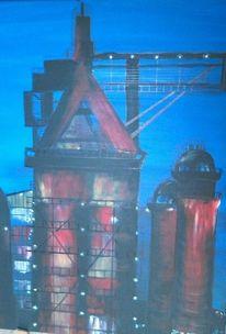 Acrylmalerei, Saarland, Neunkirchen, Industrie