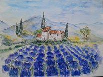 Südfrankreich, Lavendel, Provence, Malerei