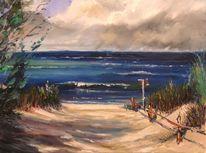 Natur, Sommer, Malerei, See