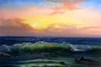 Welle, Natur, Ozean, Zeichnung