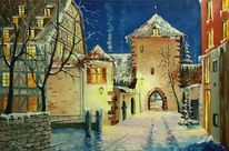 Malerei, Winter, Weihnahten, Natur