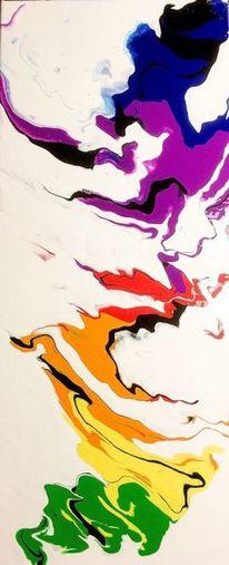 Fließ, Farben, Malerei,
