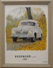 Borgward, Herbst, Auto, Malerei