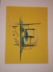 Linie, Kreis, Abstrakt, Gelb