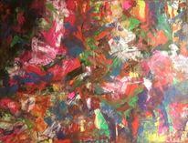 Grün, Acrylmalerei, Cyan, Magenta