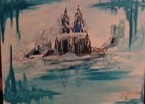 Kölner dom, Malerei, Schnee, Abstrakt