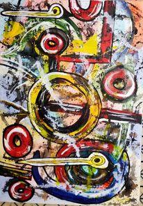 Kopf, Gehirn, Gedanken, Malerei