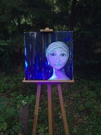 Strahlen, Leben, Leuchten, Modern art