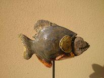 Treibholz, Glasur, Skulptur, Fisch
