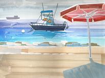 Idylle, Nebenbeigekritzel, Curacao, Illustrationen