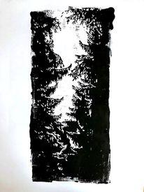 Nebenbeigekritzel, Lichtspiel, Wald, Tannenbaum