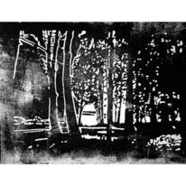 Schatten, Linolschnitt, Lichtblicke, Melancholie