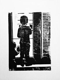Kinder, Trauer, Warten, Nebenbeigekritzel