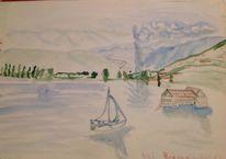 Segel, Berge, Wasserspiele, See