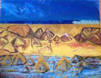 Wüste, Meer, Landschaft, Spiegelung