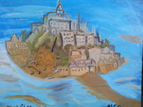 Meer, Wasser, Berge, Malerei