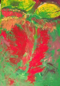 Rot, Wiese, Gelb, Malerei