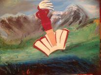Mystik, Ölmalerei, Venus, Berge