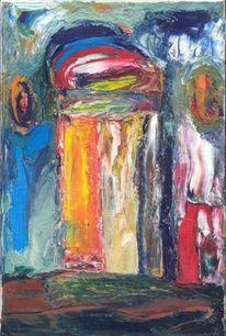 Expressionismus, Fantasiewesen, Ölmalerei, Malerei