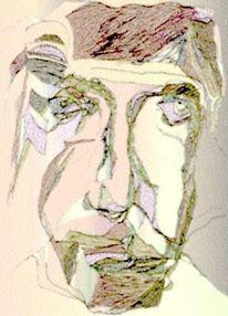 Figural, Expressionismus, Portrait, Mischtechnik