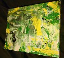 Gelb, Abstrakt, Grün, Acrylmalerei