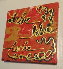 Braun, Acrylmalerei, Liebe, Orange
