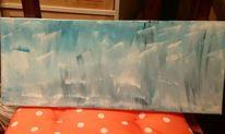Blau, Acrylmalerei, Schwarz weiß, Landschaft