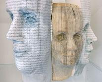Gesicht, Buch, Menschen, Skulptur