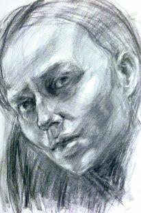 Portrait, Zeichnung, Skizzenbuch, Zeichnungen
