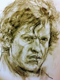 Portrait, Arbeitszimmer, Skizze, Zeichnungen