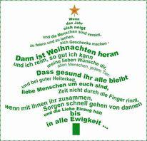 Weihnachten, Gedicht, Poesie, Digitale kunst