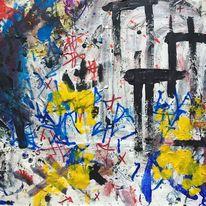 Stern, Technik, Malerei, Abstrakt