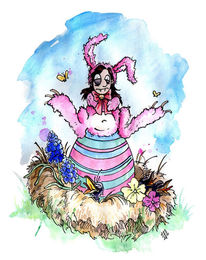 Kostüm, Hase, Nest, Ostern