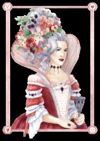 Turmfrisur, Rot, Spielkarten, Blumen