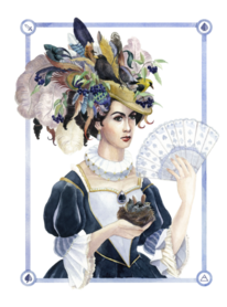 Dame, Hut, Dunkel, Spielkarten