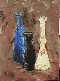 Braun, Stillleben, Acrylmalerei, Gefäß