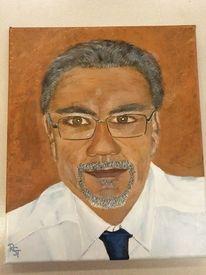Braun, Selbstportrait, Portrait, Malerei