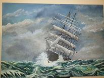 Meer, Sturm, Schiff, Segel